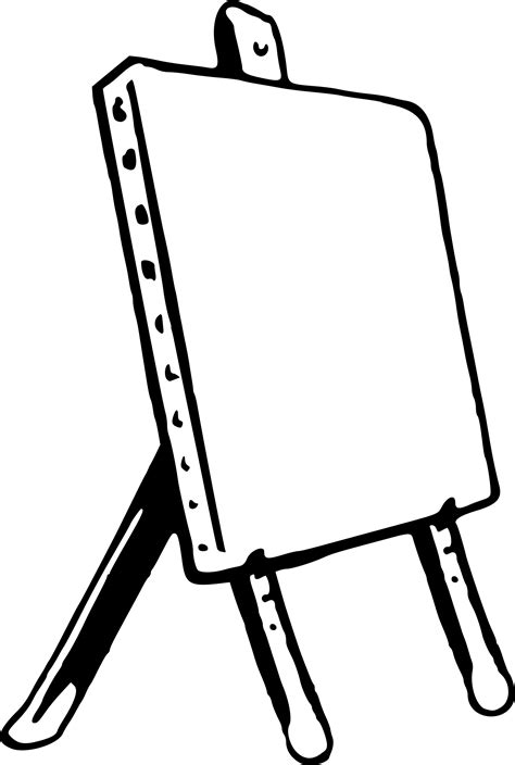 easel clipart simple wood easel simple wood transparent