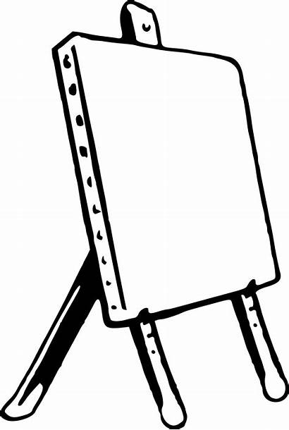 Easel Clipart Drawing Coloring Clip Palette Wood