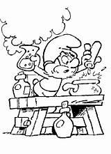 Puffi Puffo Grande Colorare Disegni Stampare Pozione Disegno Scritte Puliti Senza sketch template