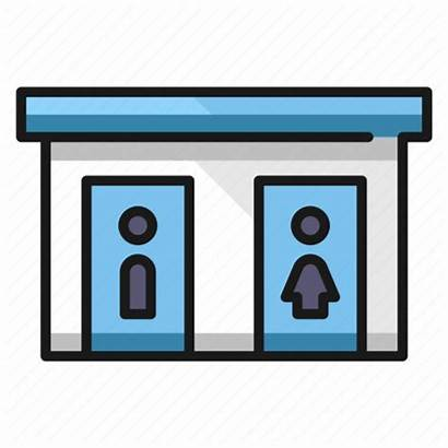 Clipart Restroom Toilet Transparent Clip Arts Filled