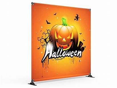 Backdrop Banner 8x8 Fabric Stand Halloween Telescopic