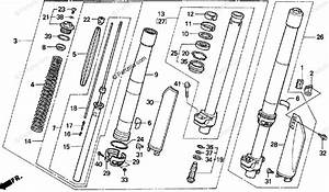 Honda Motorcycle 1994 Oem Parts Diagram For Front Fork