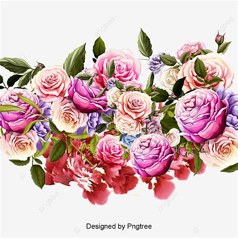 Hand Painted Flowers Hand Painted Pink Flowers PNG
