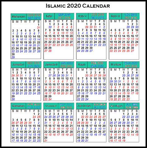 Muslim Calendar 2022.Arabic Calendar 2020 Pdf Calendario 2019
