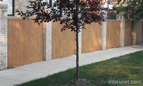 brick l post designs brick posts fence picture interunet