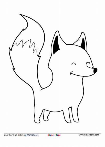 Coloring Fox Clever Cartoon Kidzezone Letter Worksheet
