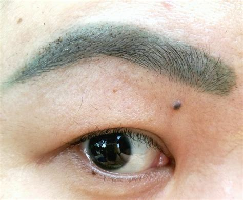 maybelline tattoo brow gel tint review   ended   green brows   fix  karen mnl