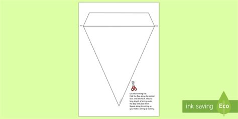 blank bunting template foundation phase teacher
