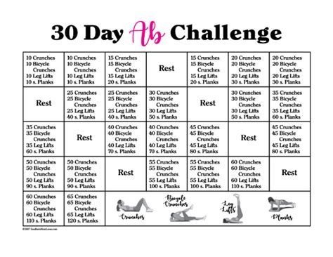 Southern Mom Loves 30 Day Ab Challenge {with Calendar And. Law School Graduation Invitations. Free Contractor Contract Template. Harvard University Graduate Programs. Excel Time Card Template