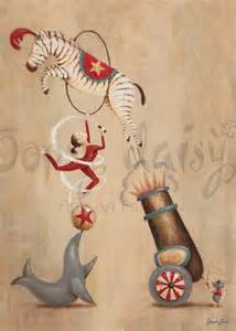 Oopsy Daisy, Fine Art For Kids Oopsy Daisy - Vintage Circus Cannon