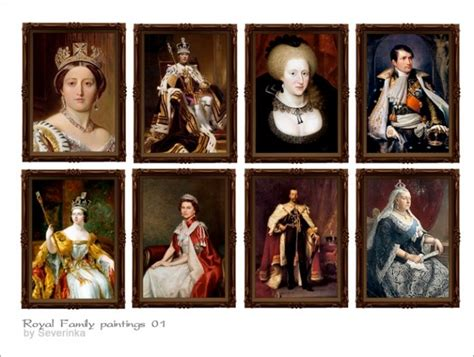 royal family paintings  sims  severinka sims  updates