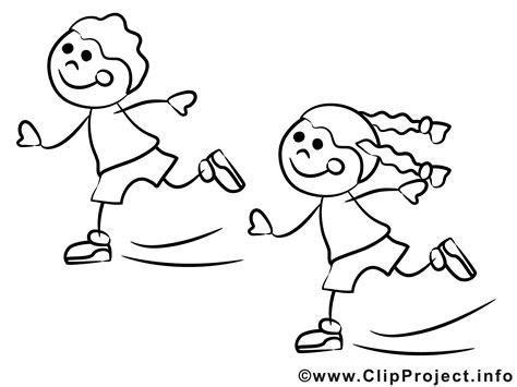 kinder laufen schlittschuh ausmalbilder fuer kinder