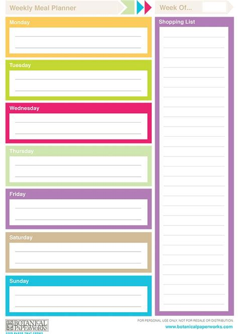 printable  weekly planners monthly planner