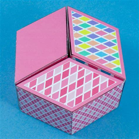 diamond shaped box boxes  bags aunt