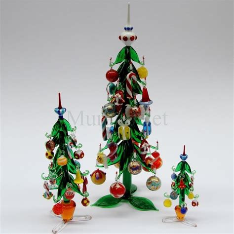 venetian glass christmas tree tree with hanging decorations cm 33 murano glass tree and decoration