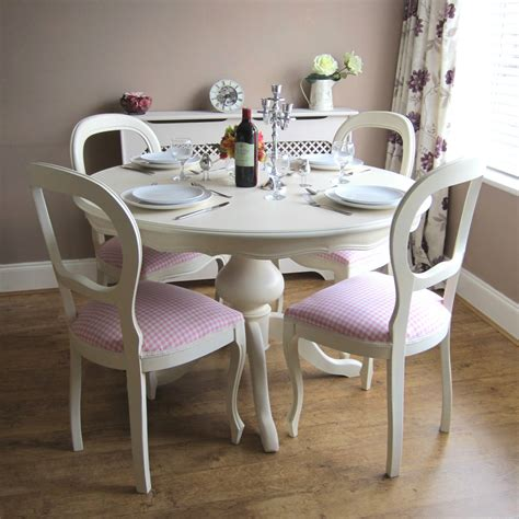 beautiful white  kitchen table  chairs homesfeed