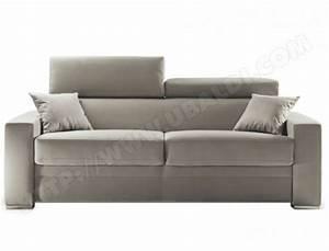 canape lit diva ascott 3 places tissu beige matelas 35 kg With ubaldi canapé lit