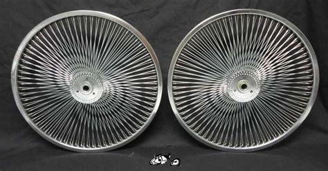 spoke hollow hub wheel set chrome