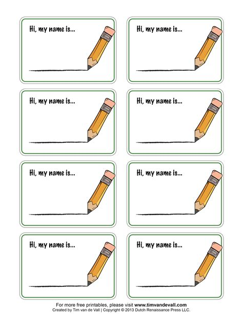 Name The Template by Printable Name Tags Compatible W Avery Templates 5395