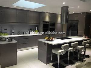 hangzhou mdf face laque brillant finition moderne metal With kitchen cabinet trends 2018 combined with papier imprime