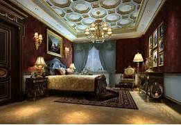Luxurious Interior Design Five Star Hotel Luxury Bedroom Interior 3D Design