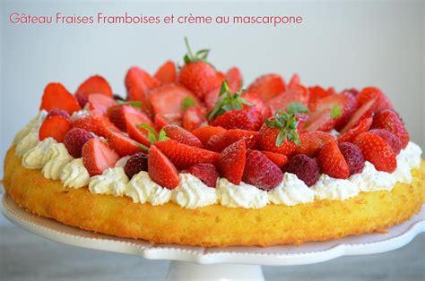 jeux de aux fraises cuisine gateaux la recette du jour gâteau fraises framboises sur crème