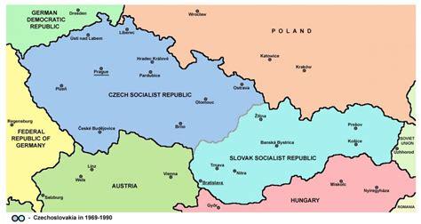 Tschechoslowakei-map - Karte der Tschechoslowakei (Ost ...