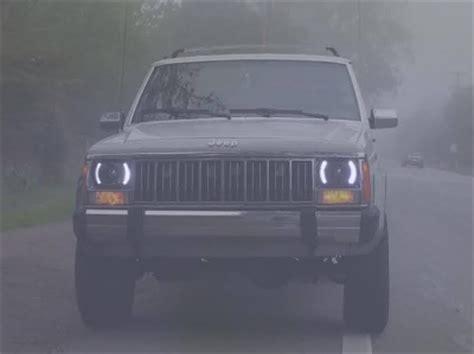 jeep cherokee   white led black sealed beam