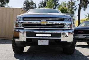 96w Led Light Bar W   Lower Bumper Bracket  Wiring For 15