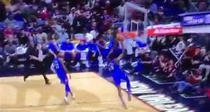 Paul George throws in-game dunk contest-style bounce pass