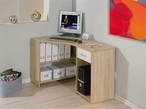 Meuble En Coin : meuble bureau ordinateur en coin en ch ne sonoma caprera belfurn ~ Teatrodelosmanantiales.com Idées de Décoration