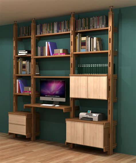 meuble bibliotheque bureau integre maison design homedian