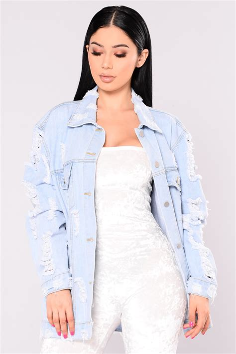 Fashion Tour Denim Jacket  Light Denim
