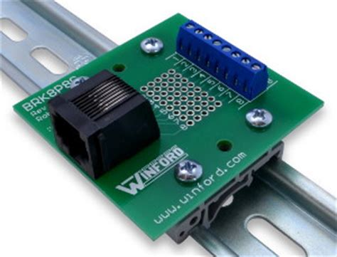 rj45 8p8c modular breakout board with terminals winford engineering