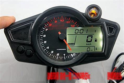 Kmh / Mph Lcd Digital Odometer Speedometer 12000 Rmp