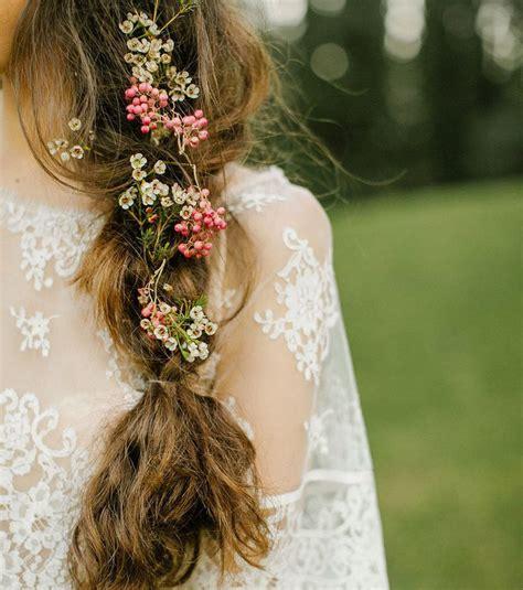 Coiffure Mariage Boheme Photo Coiffure Mariage Une Tresse Boh 232 Me Pour Cheveux Longs