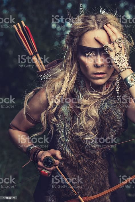 Beautiful Northern Elf Warrior Princess Stock Photo ...
