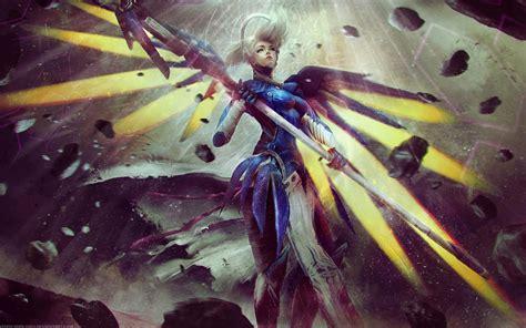 mercy artwork overwatch  wallpapers hd wallpapers id