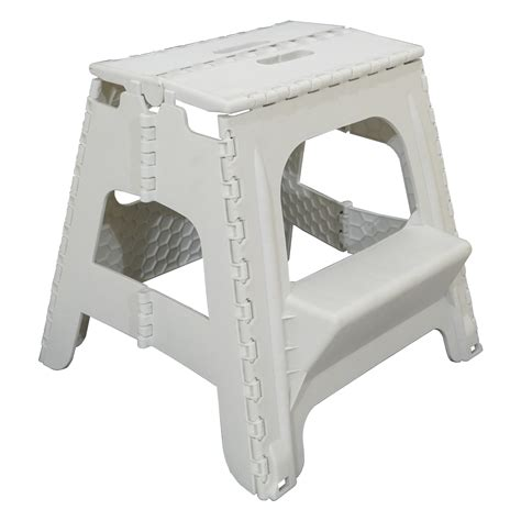 Plastic Folding Step Up Stool Heavy Duty 2 Step Stool