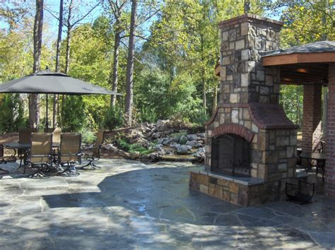 masonry outdoor fireplace stone and brick outdoor fireplace fireplaces