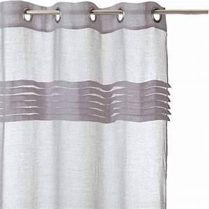 Rideau Blanc Et Gris : rideau voilage 140x240 gris ~ Teatrodelosmanantiales.com Idées de Décoration