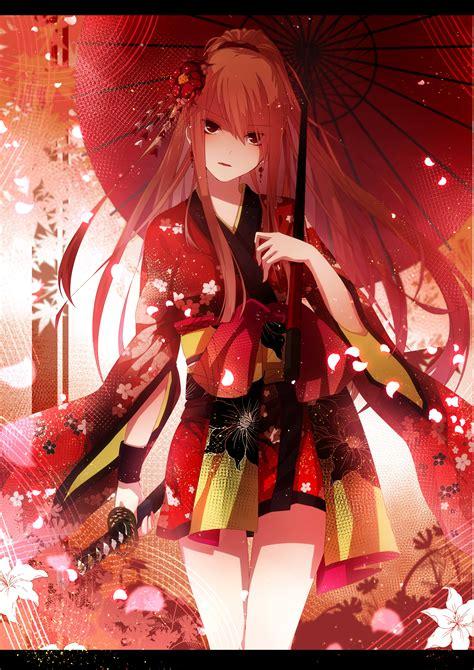 yukata anime girls original characters traditional