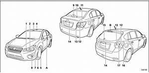 Bulb Chart    Specifications    Subaru Xv Crosstrek 2011