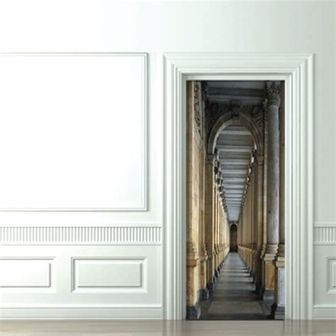 trompe l oeil door castel corridor koziel by couture d 233 co