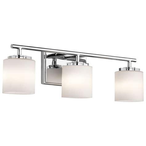 kichler lighting  hara chrome bathroom light ch
