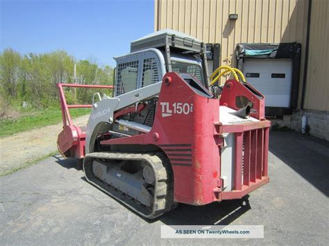 takeuchi tl land clearing tracked skid steer cab  ac