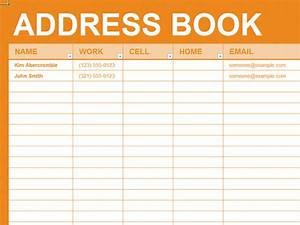 electronic address book template - free excel template personal address book organizing