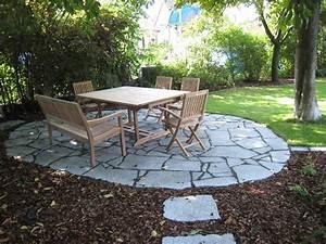 Alternative Zu Kies 3 : sitzplatz aus granit polygonalplatten garden pinterest ~ Bigdaddyawards.com Haus und Dekorationen