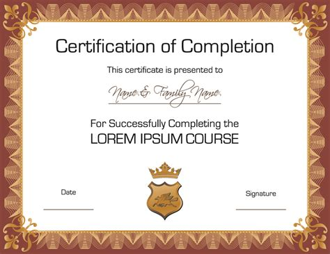 free certifications free certificate templates best template collection