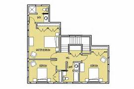 Home Layout Design Ideas Upper Level Floor Plan Three Bedrooms With Two Baths